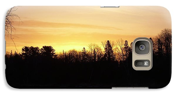 Galaxy Case featuring the photograph Mississippi River Orange Sky by Kent Lorentzen