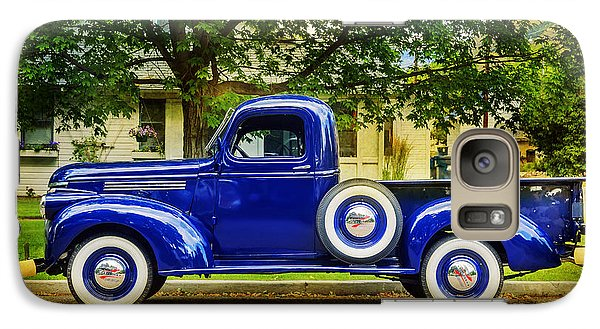 Galaxy Case featuring the photograph Missoula Blue Truck by Craig J Satterlee