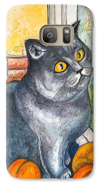 Galaxy Case featuring the painting Missy With Fruits by Rae Chichilnitsky