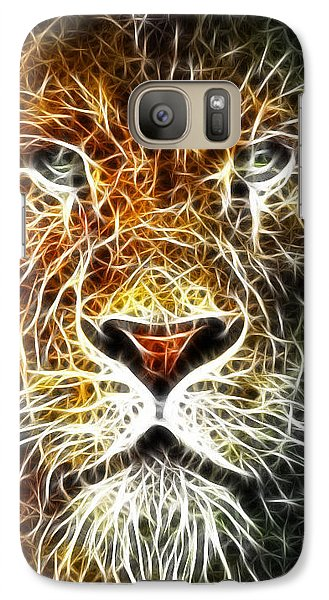 Galaxy Case featuring the mixed media Mistical Lion by Paul Van Scott