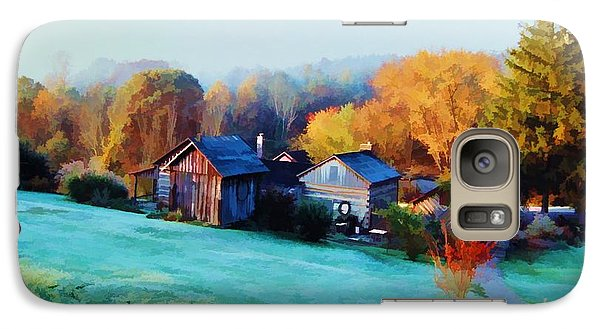 Galaxy Case featuring the photograph Misty Autumn Day by Diane Alexander