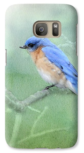 Galaxy Case featuring the photograph Misty Blue by Betty LaRue