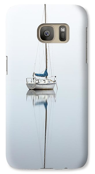 Galaxy Case featuring the photograph Misty Boat by Grant Glendinning