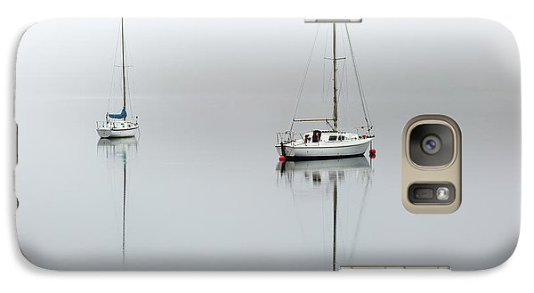 Galaxy Case featuring the photograph Misty Boats by Grant Glendinning