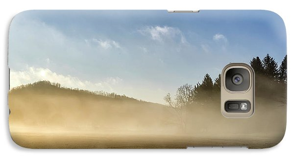 Galaxy Case featuring the photograph Misty Country Morning by Thomas R Fletcher