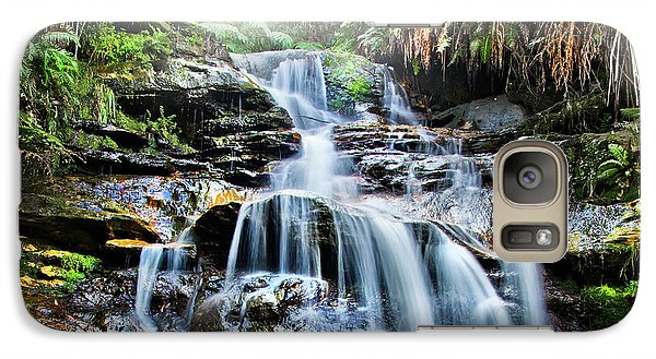 Galaxy Case featuring the photograph Misty Falls by Az Jackson