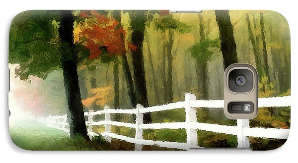 Galaxy Case featuring the painting Misty In The Dell P D P by David Dehner