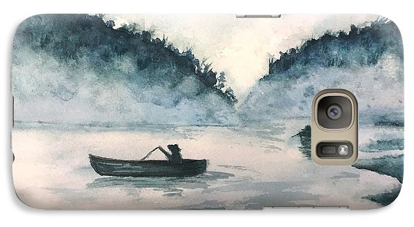 Galaxy Case featuring the painting Misty Lake by Lucia Grilletto