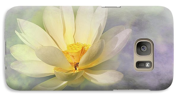 Galaxy Case featuring the photograph Misty Lotus by Carolyn Dalessandro