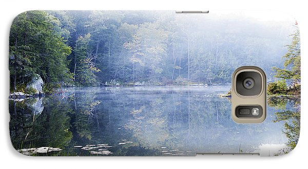 Galaxy Case featuring the photograph Misty Morning At John Burroughs #1 by Jeff Severson