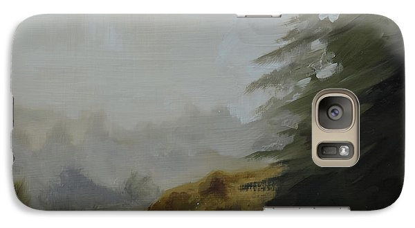 Galaxy Case featuring the painting Misty Morning, Benevenagh by Barry Williamson