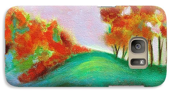 Galaxy Case featuring the painting Misty Morning by Elizabeth Fontaine-Barr