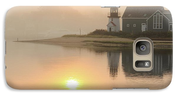 Galaxy Case featuring the photograph Misty Morning Hyannis Harbor Lighthouse by Roupen  Baker
