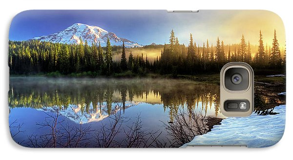 Galaxy Case featuring the photograph Misty Morning Lake by William Lee