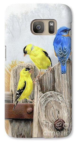 Finch Galaxy S7 Case - Misty Morning Meadow by Sarah Batalka