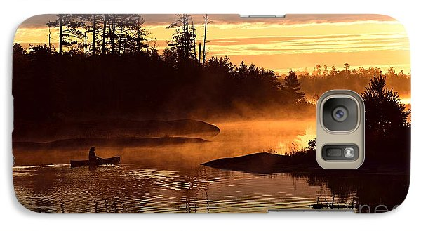 Galaxy Case featuring the photograph Misty Morning Paddle by Larry Ricker