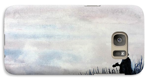 Galaxy Case featuring the painting Misty Morning Photographer by Tom Riggs