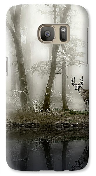 Galaxy Case featuring the photograph Misty Morning Reflections by Diane Schuster