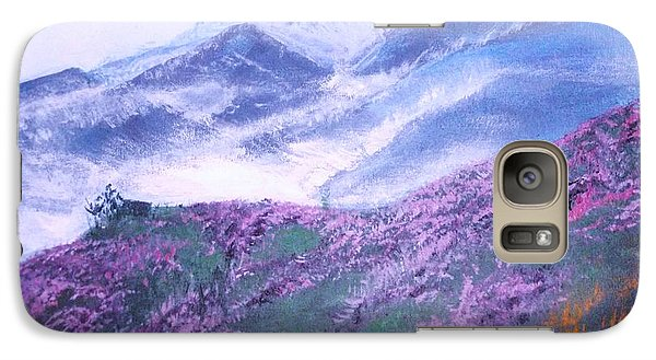 Galaxy Case featuring the painting Misty Mountain Hop by Donna Dixon