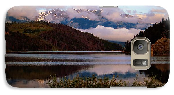 Galaxy Case featuring the photograph Misty Mountain Morning by Karen Shackles