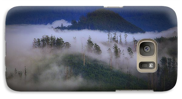 Galaxy Case featuring the photograph Misty Mountains by Tim Nichols