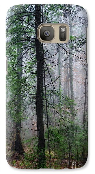 Galaxy Case featuring the photograph Misty Winter Forest by Thomas R Fletcher