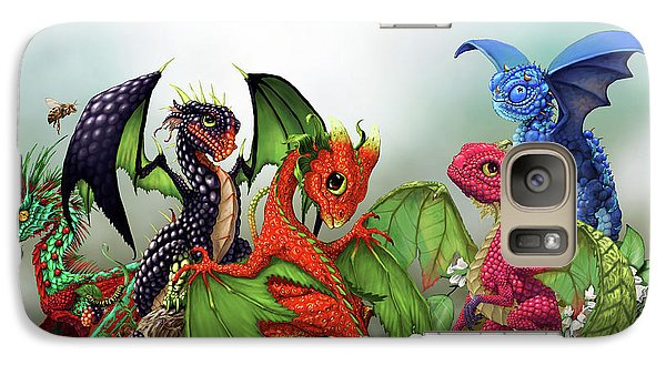 Mixed Berries Dragons Galaxy S7 Case