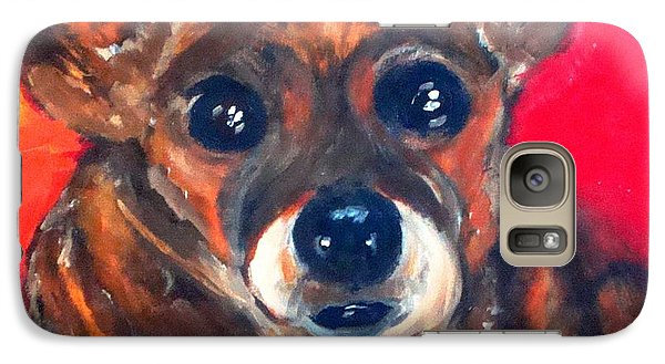 Galaxy Case featuring the painting Mixed Breed- Sadie My Girl by Laura  Grisham
