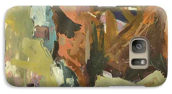Galaxy Case featuring the painting Mixed Media Cow Painting by Robert Joyner