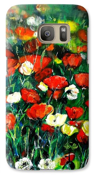 Galaxy Case featuring the painting Mixed Puppies  by Laila Awad Jamaleldin