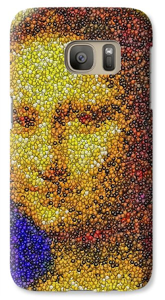 Galaxy Case featuring the mixed media Mm Candies Mona Lisa by Paul Van Scott