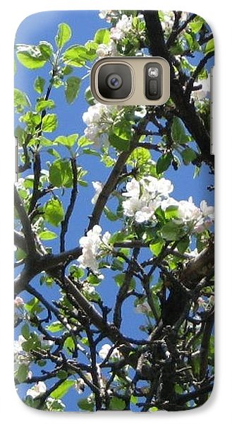 Galaxy Case featuring the photograph Mn Apple Blossoms by Barbara Yearty