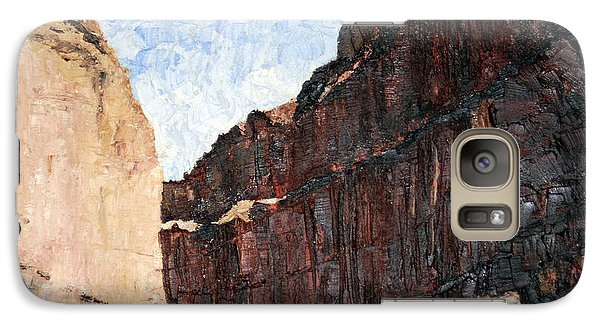 Galaxy Case featuring the painting Moab Train Tracks by Jane Autry