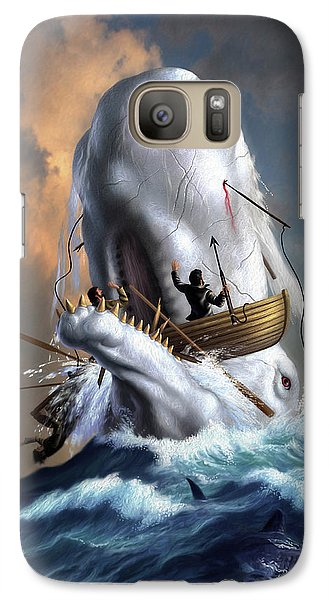 Sharks Galaxy S7 Case - Moby Dick 1 by Jerry LoFaro