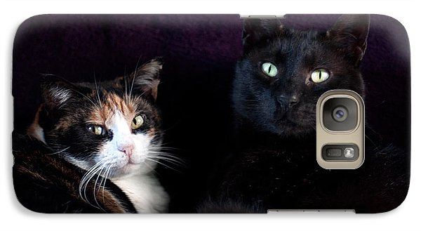 Galaxy Case featuring the photograph Mochi And Stinky by Laura Melis