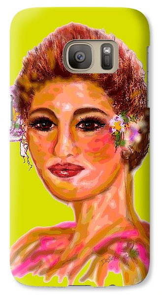 Galaxy Case featuring the digital art Model Mode by Desline Vitto