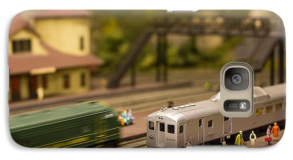 Galaxy Case featuring the photograph Model Trains by Patrice Zinck