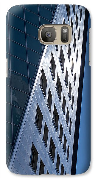 Galaxy Case featuring the photograph Blue Modern Apartment Building by John Williams