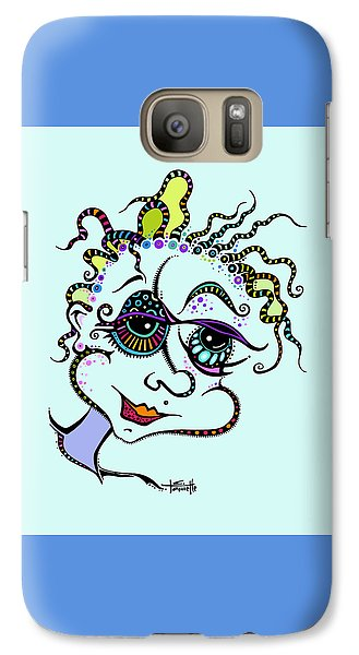 Galaxy Case featuring the drawing Modern Day Medusa by Tanielle Childers