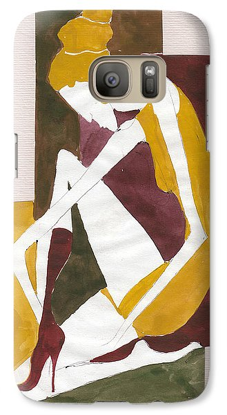 Galaxy Case featuring the painting Modern Greek Goddess by Maya Manolova