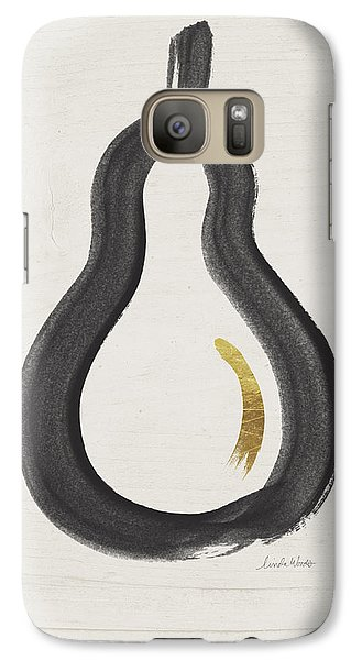 Fruits Galaxy S7 Case - Modern Pear- Art By Linda Woods by Linda Woods