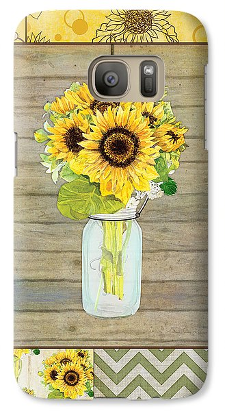 Modern Rustic Country Sunflowers In Mason Jar Galaxy S7 Case
