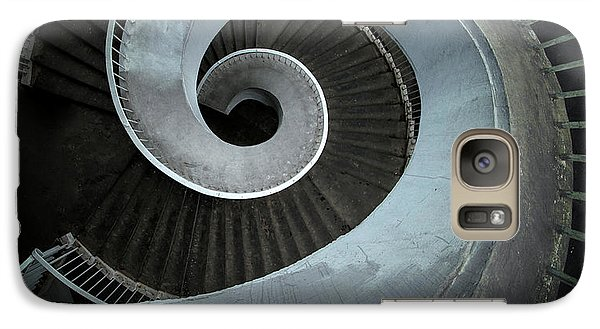Galaxy Case featuring the photograph Modern Spiral Stairs by Jaroslaw Blaminsky