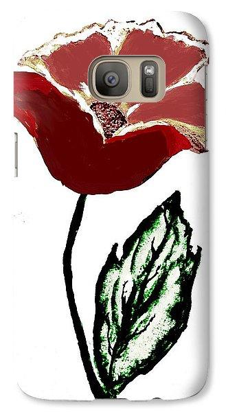 Galaxy Case featuring the drawing Modernized Flower by Marsha Heiken