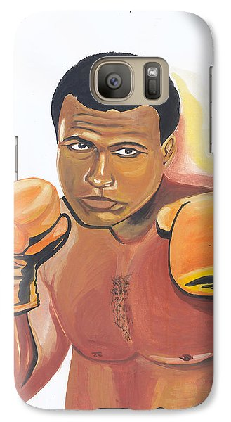 Galaxy Case featuring the painting Mohammed Ali by Emmanuel Baliyanga
