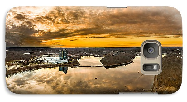 Galaxy Case featuring the photograph Mohegan Sun Sunset by Petr Hejl
