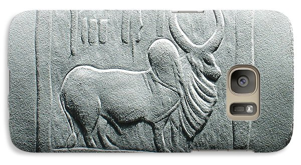 Galaxy Case featuring the relief Mohenjodaro Seal Relief Drawing by Suhas Tavkar