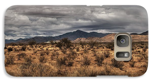 Galaxy Case featuring the photograph Mojave Landscape 001 by Lance Vaughn