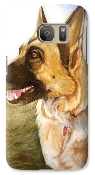 Galaxy Case featuring the painting Mollie by Marilyn Jacobson