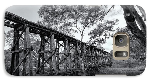 Galaxy Case featuring the photograph Mollisons Creek Trestle Bridge by Linda Lees
